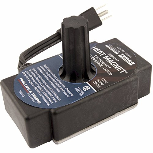 Zerostart 3400017 Portable Electric Heat Magnet Heater for Transmissions, Oil Pans and Small Engines | CSA Approved | 120 Volts | 200 Watts