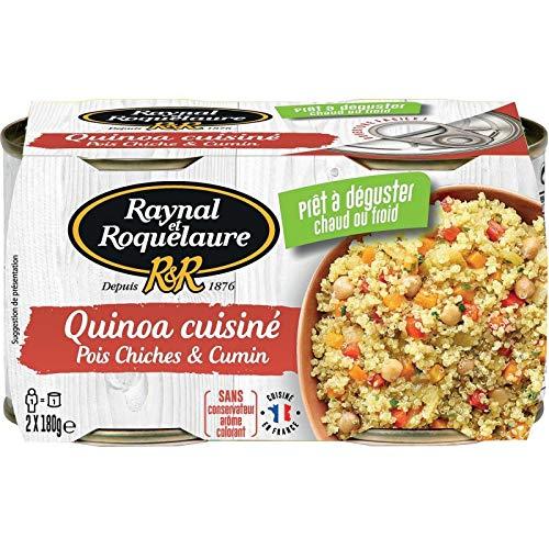 RAYNAL ET ROQUELAURE - Quinoa Cuisiné Pois Chiches Cumin 2X180G - Lot De 4 - Livraison Rapide En France - Prix Par Lot