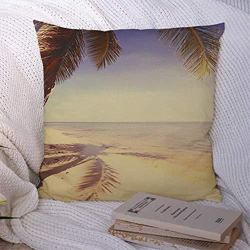N\A Dekorative Überwurfkissenbezüge für Schlafsofa Couch Jamaika Schöne Retro Seaside View Naturstrandparks Werbung Bahamas Paradise Bali Beste Bora Soft Kissenbezug