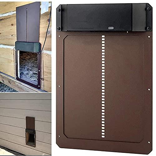 Porte de poulailler automatique avec détection de la lumière-Porte de poulailler étanche,technologie Plug and Play,facile à installer et à utiliser,minuterie d'ouverture retardée le soir et le matin