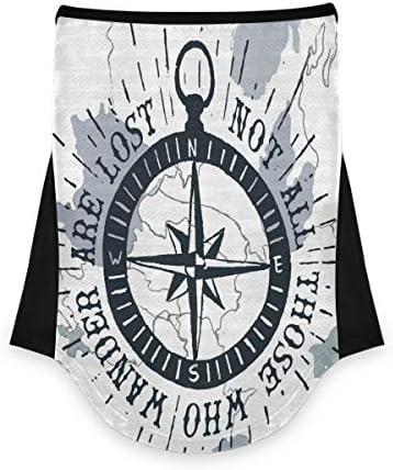LORONA Nautical kompas gezicht Bandana hals Gaiter met oor lussen ademende ijs zijde Balaclava driehoek gezicht cover sjaal voor zon stofwind bewijs motorfiets vissen hardlopen buiten