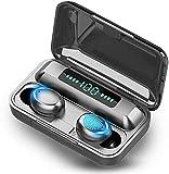 LIFE-LXC Auriculares Bluetooth,Auriculares Inalámbricos con Bluetooth 5.0 HI-Fi Sonido Estéreo In-Ear,Sprot IPX7 Impermeable, LCD Display Estuche de Carga,Reproducción de 100 Horas