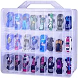 Adam Toys Organizer Storage Compatible with Hot Wheels Car, Container for Matchbox Cars, Mini Toys, Small Dolls, Double Sided Carrying Box for Hotwheels Car- 48 Compartments(Box Only)