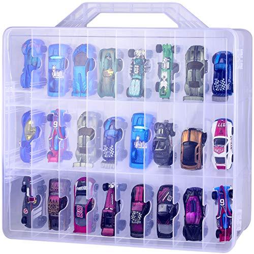 Organizer per giocattoli Hot Wheels Die-Cast, set regalo per auto, contenitore per scatole di fiammiferi auto, mini giocattoli, bambole per hotwheels auto 48 scomparti (solo scatola)