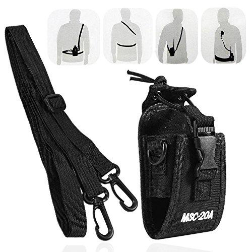 Eboxer MSC-20A nylon tasje met riem voor Kenwood/Motorola/HYT twee-weg radio tas walkietalkies beschermhoes zwart