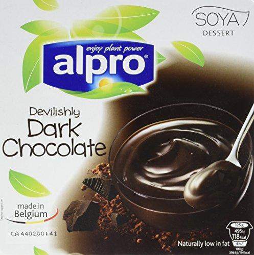 Alpro Dessert au Chocolat Noir 4 x 125 g - Lot de 6