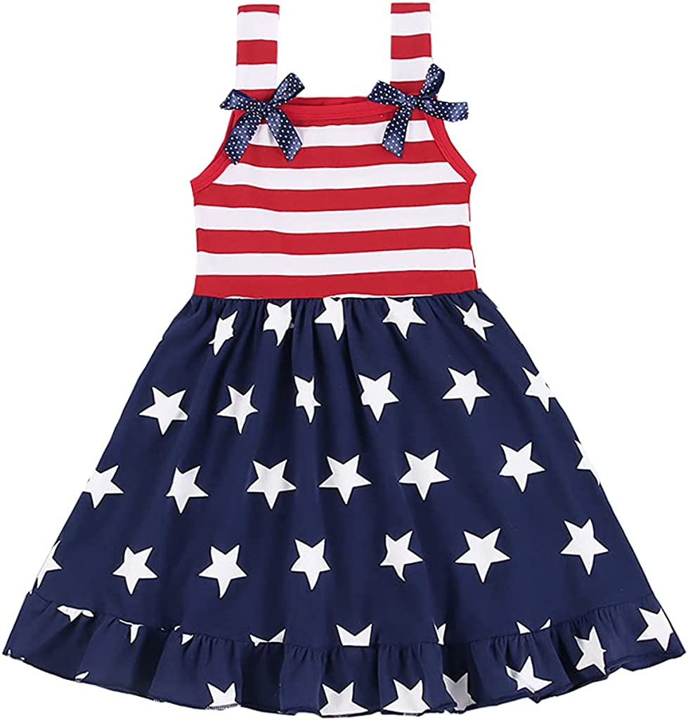 Super sale CM WODRO Toddler Soldering Baby Girls Summer and Stripes Stars Outfit