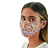 Snoozies Face Masks - 1 Cloth Face Mask - Washable Fabric Face Mask Reusable with Filter Pocket - Adjustable Ear Loops - Resealable Pouch - 4 Disposable Filters Included - Paint Splatter