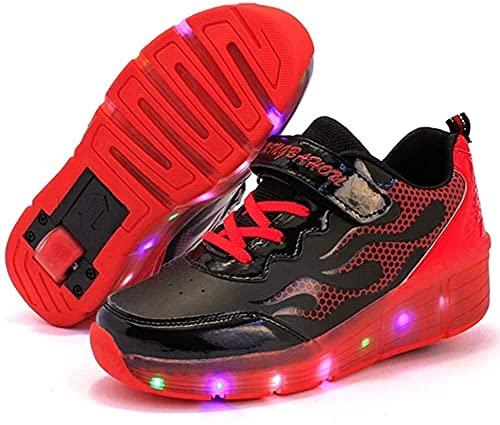 LCNING Roller Roues Skate Skate Sneaker Sport Roller Roller Roller Chaussures LED Clignotant Lumineux pour Enfants en Plein air Enfants Juniors garçons Filles Femmes pour Les Femmes et Les Hommes