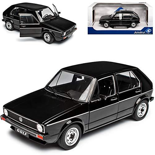 NEW Volkwagen Golf I L Schwarz 5 Türer 1974-1983 1/18 Solido Modell Auto