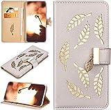 Robinsoni Custodia Compatibile con iPhone 6 Case Portafoglio Cover Libro Case Oro Foglia I...