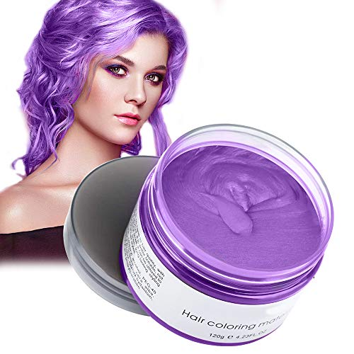 Acosexy Temporary Hair Wax, Instant Hairstyle Mud Cream Gel, Natural Hair Color Wax Material Disposable Hair Dye Wax Ash for Cosplay,Party,Masquerade, Halloween.etc