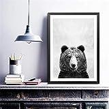wopiaol Kein Rahmen Leinwand Malerei Wild Animal Wandkunst