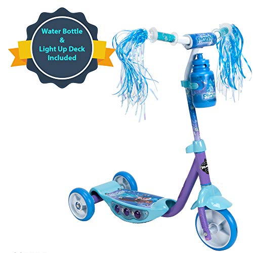 Best Bargain Huffy Disney Frozen Preschool Scooter W/Lights, Streamers & A Water Bottle
