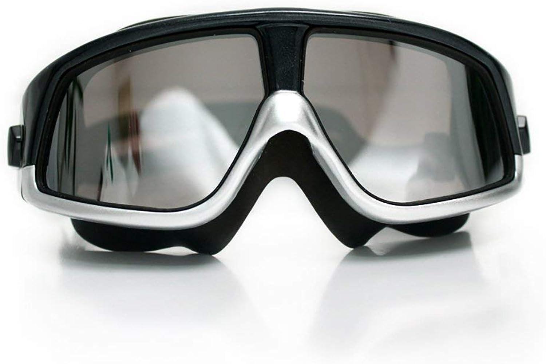 Fishroll Taucherbrille Schwimmbrille wasserdicht und Anti-Fog Large Frame Mnner und Frauen (Farbe  schwarz), ZJYDP