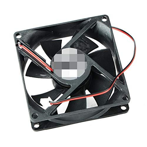 OLDJTK PC 1 2 Pin 24V 80x80x25mm 8025 Motor Dual Ball Ventilador de 80mm x 25mm Caja de la PC de la CPU sin escobillas refrigerador de 8cm