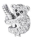 Ciondolo con koala, in argento Sterling 925, in confezione regalo, argento, cod. SHXS174