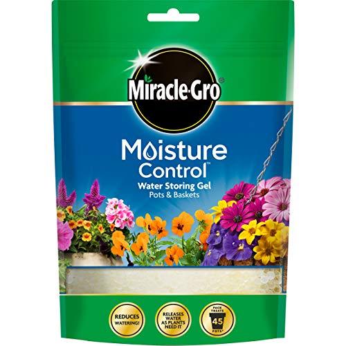 Miracle-Gro Moisture Control for Pots & Baskets (225g Pouch) Wasserfädelnde Gel-Kristalle, die Wasser abgeben, wenn Pflanzen es am meisten brauchen, blau