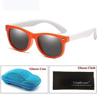0ee8f65d0e Wang-RX Espejo para niños Gafas de sol Niños Niñas Silicón polarizado Gafas  de sol