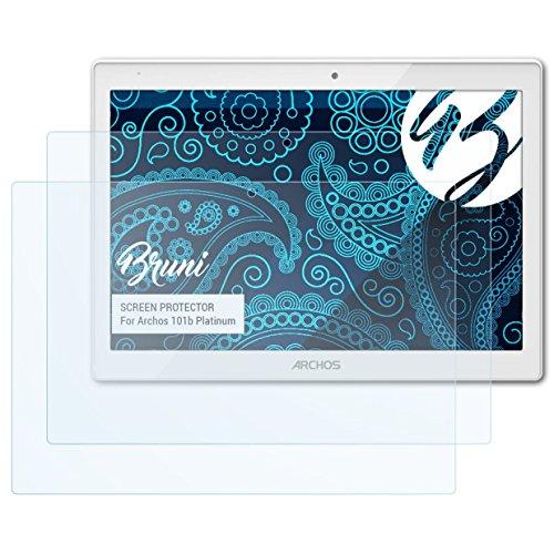 Bruni Schutzfolie kompatibel mit Archos 101b Platinum Folie, glasklare Displayschutzfolie (2X)