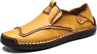 TAZAN Printemps et Automne Nouvelles Chaussures de Conduite en Cuir Hommes Casual Chaussures antidérapantes Lok Fu Chaussu...