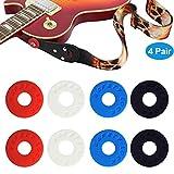 Asseny 8 Pcs / Ensemble Guitare Sangles Blocs Lock Silicone Basse Instruments de Musique Guitares Électriques Pièces & Accessoires