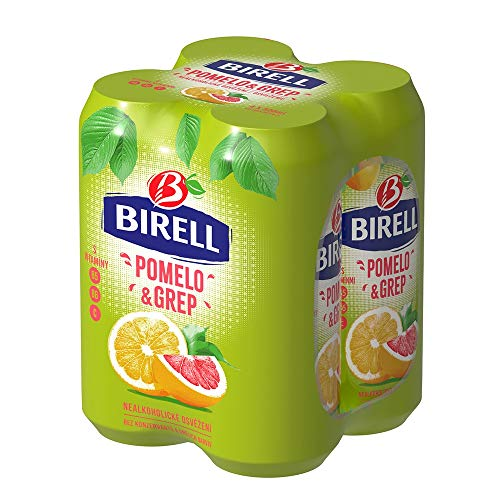 Birell Erfrischendes alkoholfrei Radler mit Pomelo & Grapefruit Geschmack (4 x 500ml) EU Dosenbier