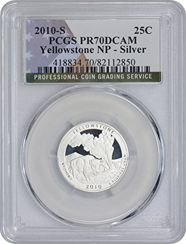 2010-S Yellowstone Quarter, PR70DCAM, Silver, PCGS (Flag Label)