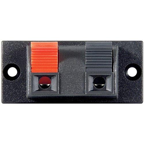 10 Stück Lautsprecher-Terminal, 2 pol.Klemmleiste, rot/schwarz