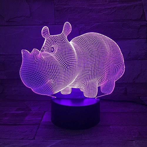 Lámpara De Noche 3D Bombilla Led, Usb 7 Colores Ambiente Táctil Familia Padre Regalos Cumpleaños Habitación Led Decoración De Dormitorio Para Niños Ilusión Acrílico Juguetes Nocturnos Decoración Par