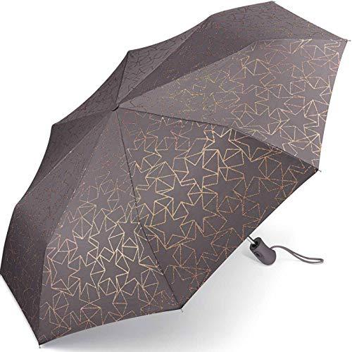 ESPRIT Easymatic light Glitter Stars Excalibur Automatik Regenschirm Umbrella Schirm 53197