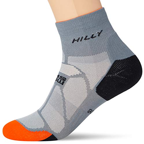 Hilly Marathon Fresh Anklet Socks - Granite/Orange, M
