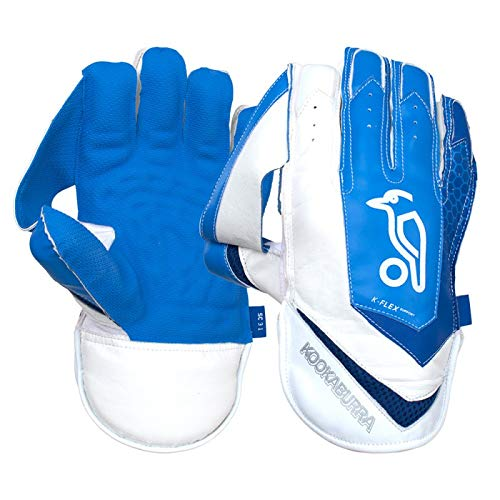 KOOKABURRA 2020 Sc 3.1 Wicket Keeping Gloves-Adult, White/Blue