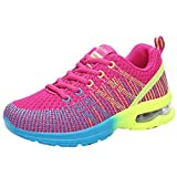 Femmes Mode Respirant Confortable Athlétique Sport Chaussures Baskets Running Chaussures Sneakers BaZhaHei (41 EU,Rose Vif)