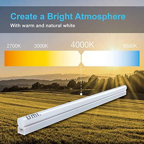 Umi. by Amazon 900lm 61 cm T5 Integrierte verknüpfbare Lichtleiste, sehr flache Hochleistungs-Unterbauleuchte, mit zusätzlichem Verbindungskabel, 1 St.