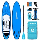 WOWSEA SUP Board Set - AN26 Stand Up Paddle Board, 6 Zoll Dick, 335 * 81 * 15 cm Groß, Blau, 2 Jahre Garantie