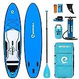 WOWSEA Cruise Tablas De Paddel Surf Hinchables | 335cm L x 81.5cm W x 15cm H | Duraderas y Estables Caza Tabla SUP Hinchable | Pesca & Exploradora iSUP | Azul