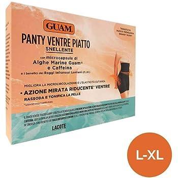 Guam - Panty Ventre Piatto Colore Nero con microcapsule di Alghe Marine e Caffeina (L/XL (46-50))