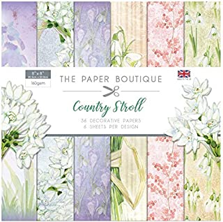 The Paper Boutique The Country Stroll 8x8 Paper Pad, 300g