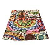 indischen Patch Work Baumwolle Kantha Quilt Tween Tagesdecken Überwurf Decke Bohemian Tagesdecke