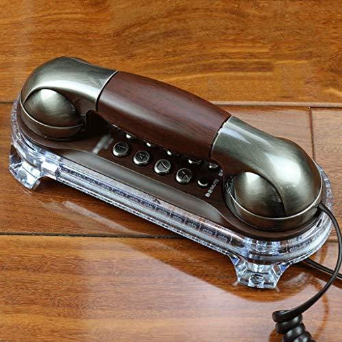 YUBIN Teléfono Teléfono móvil de Pared Retro Creativo Europeo Europeo Antiguo Retro Cable de Pared Fijo Fijo Fijo (Color: Cobre Rojo) (Color: Cobre Rojo) (Color : Bronze)