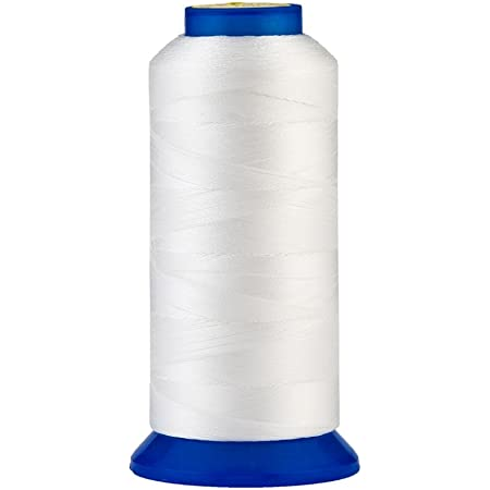 Selric [1500Yards / 30 Colors Available] UV Resistant High Strength Polyester Thread #69 T70 Size 210D/3 for Upholstery, Outdoor Market, Drapery, Beading, Purses, Leather ( White )