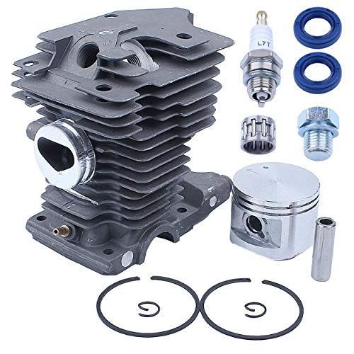 Mtanlo 46mm Cylinder Piston Top End Kit Big Bore for Stihl MS280 MS280C MS270 MS270C MS 270 280 Chainsaw 1133 020 1203 1133 020 1202