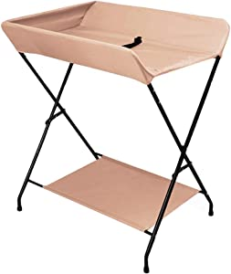 LXCS Baby care station Baby Changing Table  Baby Diaper Table Unit Portable Care Table Multi-function Supplies Newborn Storage Rack Foldable  Color Orange