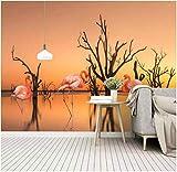 Papeles Pintados De Pared Flamencos De Árboles De Agua De Río Foto Wallpaper Comedor Sala De Estar Sofá Telón De Fondo Pintura De Pared Mural De Pared 150X100Cm