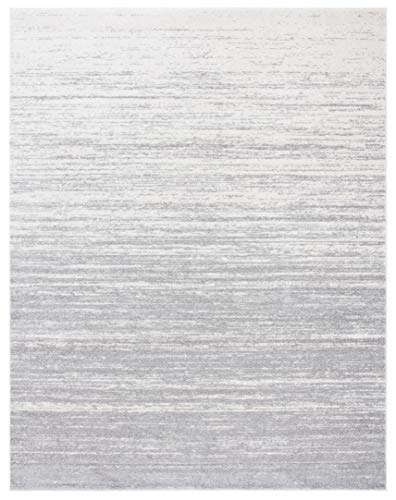 Safavieh Adirondack Collection ADR113C Modern Ombre Non-Shedding Stain Resistant Living Room Bedroom Area Rug, 8' x 10', Light Grey / Grey