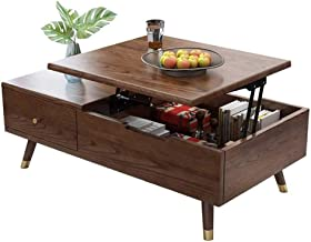 """Modern Wood Lift Top Coffee Table - Multifunction Dining Table - 47"""" Cocktail Table with Storage Shelf and Drawers for Liv..."""