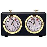 Retro Chess Clock Timer,Wind-Up Mechanical Chess Clock,Professional Competition Mechanical Analog Chess Clock, International Chess & I-GO,Tournament Board Game Count Up Down.