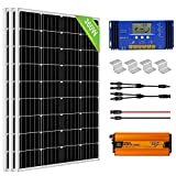 ECO-WORTHY Kit Inversor Solar 360W: 3 Paneles Solares 120W + 1...