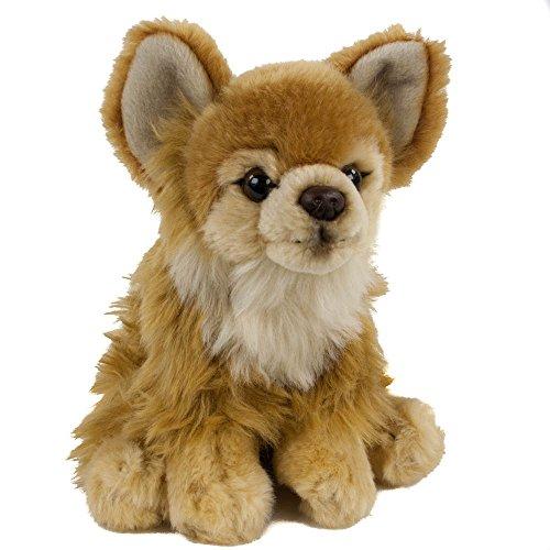 Teddys Rothenburg Kuscheltier Chihuahua 17 cm sitzend braun Plüschchihuahua Plüschhund